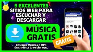 🥇 5 sitios web para DESCARGAR MUSICA GRATIS 【Escuchar Musica Online 2020】