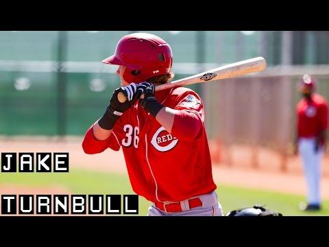 Cincinnati Reds prospect Jake Turnbull hitting in spring training