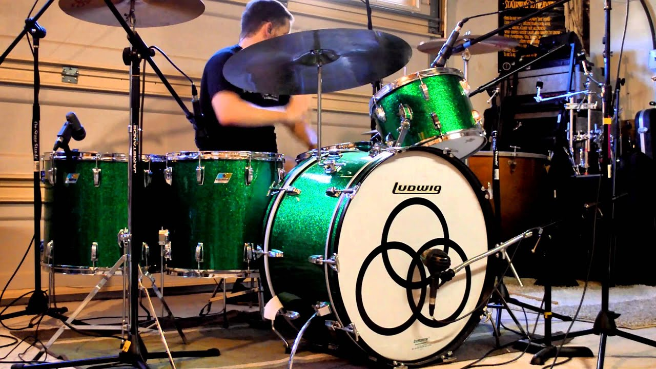 Led Zeppelin - Immigrant Song (Live) w/o Music - Drum Cover - Vintage Ludwig Green Sparkle Drum Kit #1