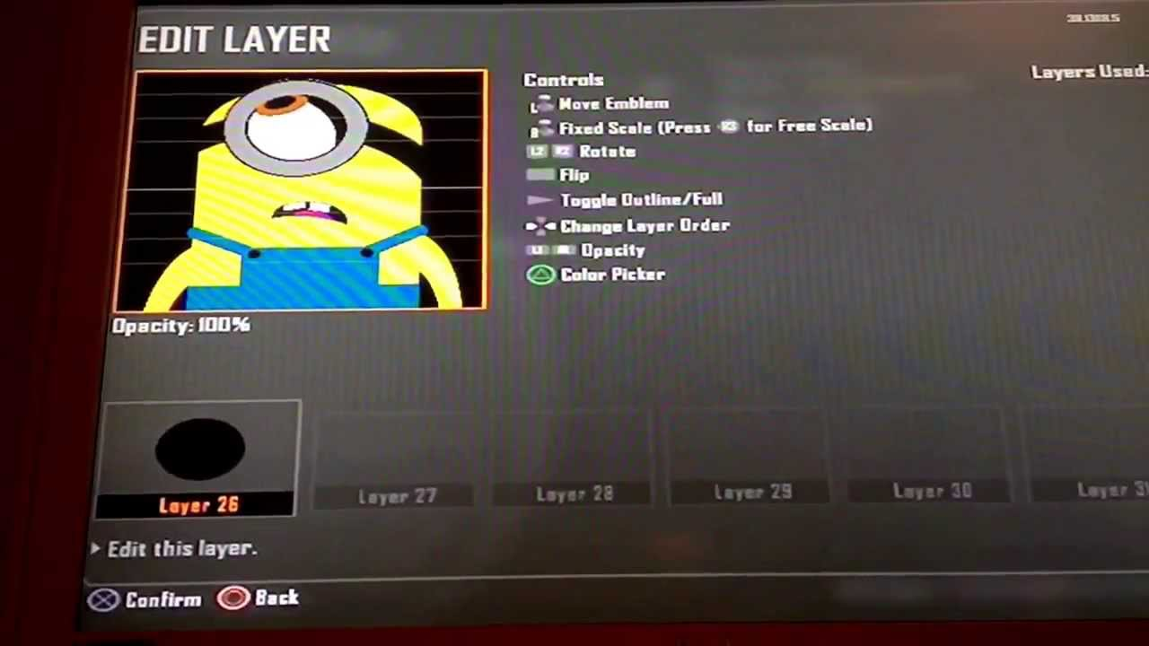 Despicable me minion emblem black ops 2 youtube biocorpaavc Image collections