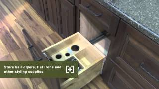 Schuler Cabinetry: Salon Styling Center, Bathroom Storage Part 15