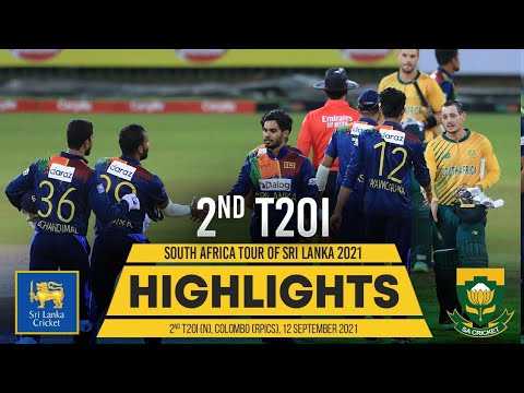 Download 2nd T20I Highlights   Sri Lanka vs South Africa 2021
