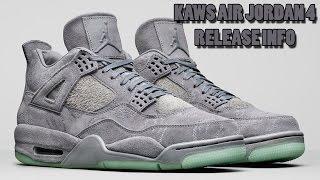 KAWS Air Jordan 4 Release Info