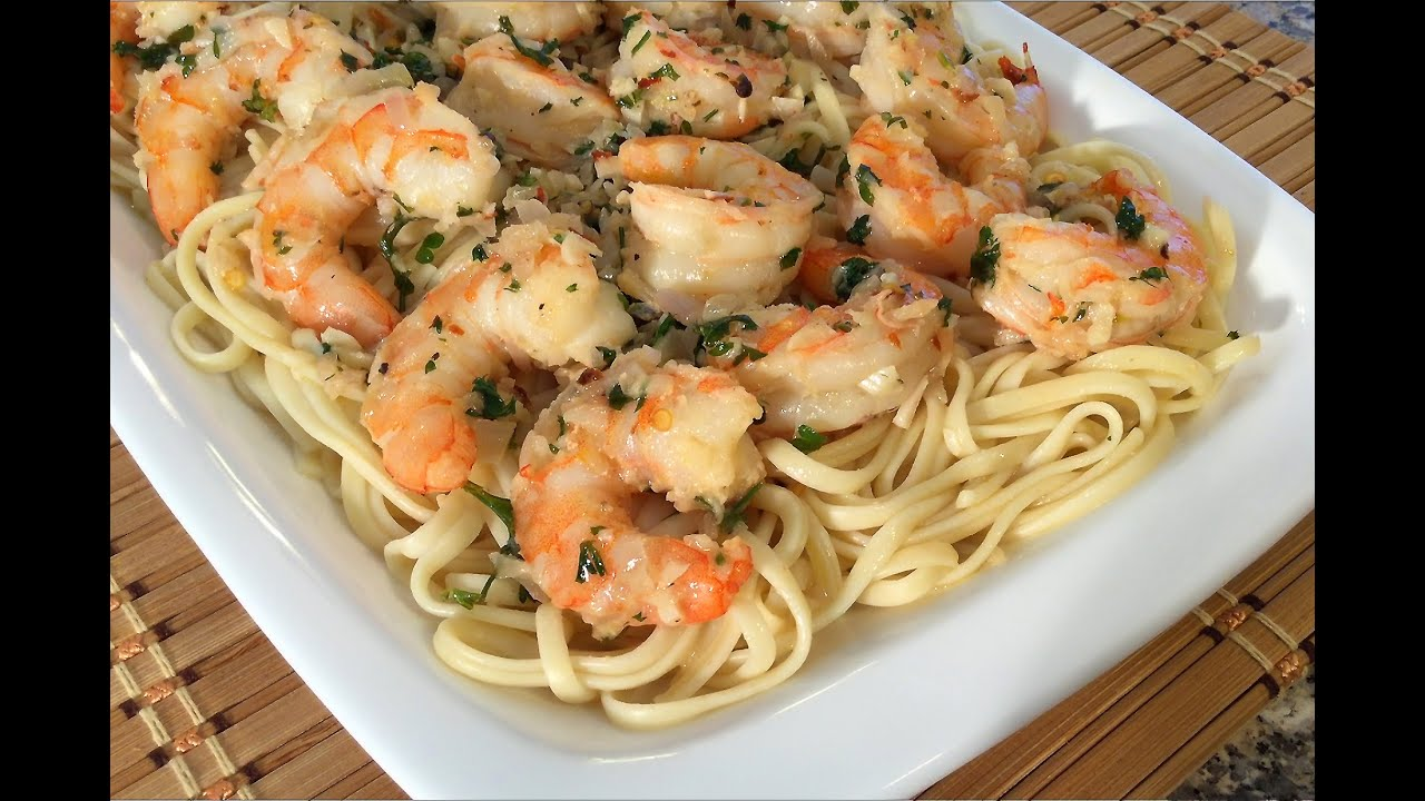 How to make shrimp scampi linguine pasta italian food recipes youtube forumfinder Images