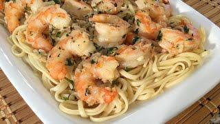How To Make Shrimp Scampi-Linguine Pasta-Italian Food Recipes