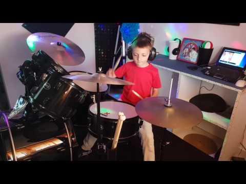 """Bruno Mars - Uptown funk"" Drum cover Antonio Palumbo 6 anni"