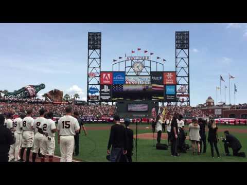 HAMILTON's Schuyler Sisters: San Francisco Giants National Anthem