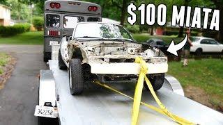 I Bought a $100 Miata for Drift Truck Parts!