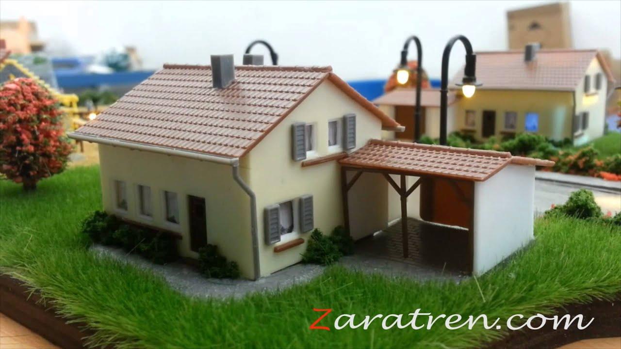 Circuito Iluminación para 6 casas aleatorio, cualquier escala, H0, N ...
