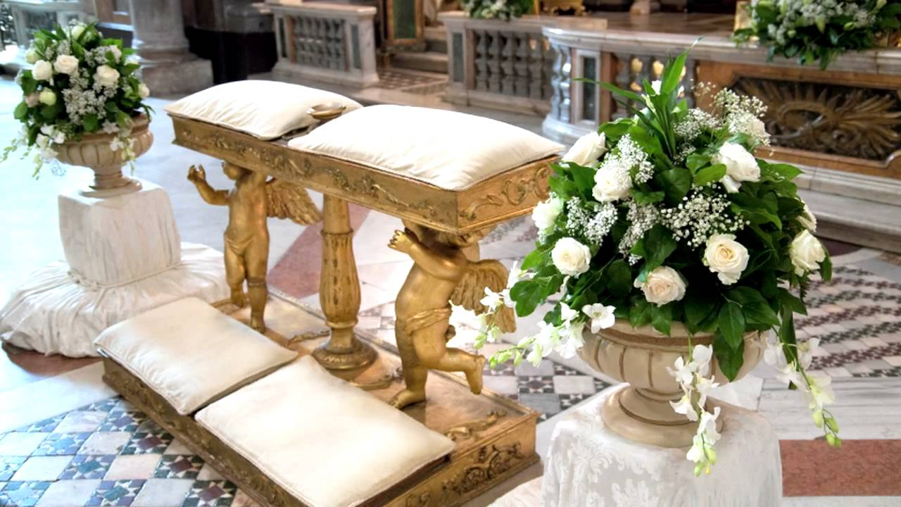 Best wedding church altar decorations youtube for Altar wedding decoration
