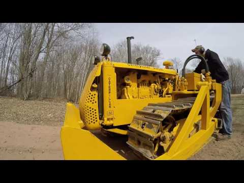 Caterpillar D2 Pulling Old Tree Stumps
