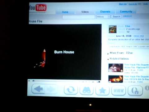 WII internet channel.  Watching youtube. How to.