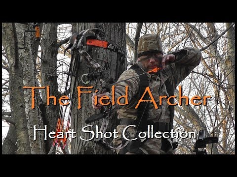 BOWHUNTING: BEST MULTIPLE HEART SHOTS ON VIDEO PART 1