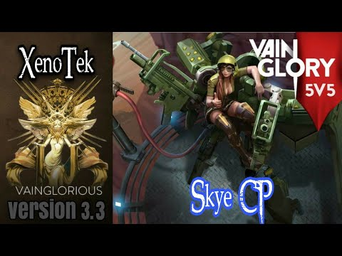 5v5 XenoTek   Skye CP - Vainglory hero gameplay from pro player