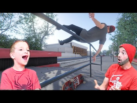 FATHER SON SKATEBOARDING VIDEO GAME! / Skater XL