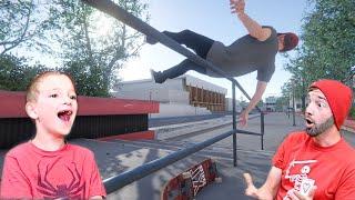 FATHER SON SKATEBOARDING VIDEO GAME! / Skater XL