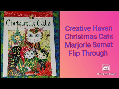 Complete Flip Through Christmas Cats Marjorie Sarnat Coloring Book August 18 2020 Youtube