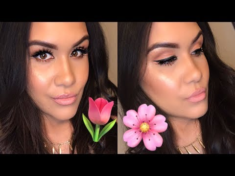 Peachy Pink Spring Makeup Tutorial