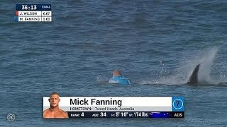wsl mick fanning attacked by shark