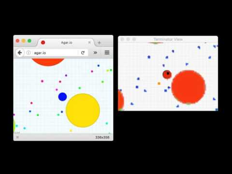 Artificial intelligence agent learning to play Agar.io