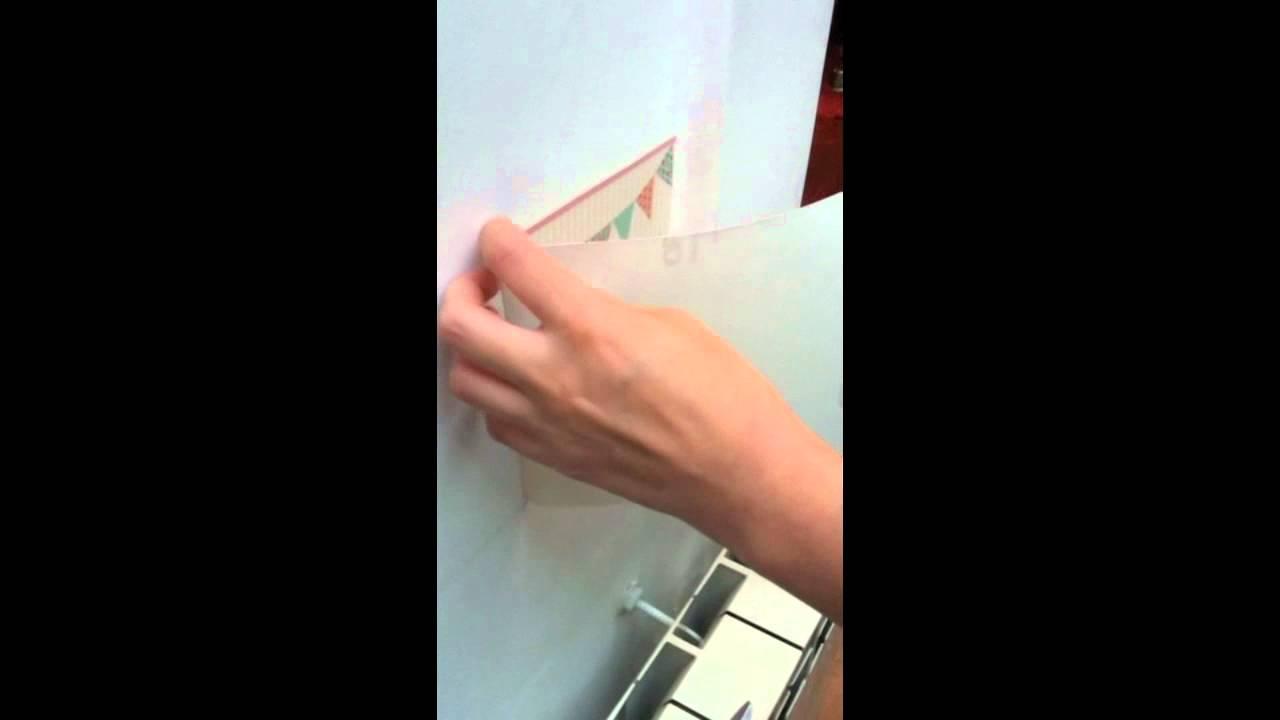 Instrucciones para colocar guardas de pared youtube for Papel para empapelar paredes precios