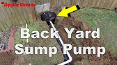 outdoor sump pump and basin youtube