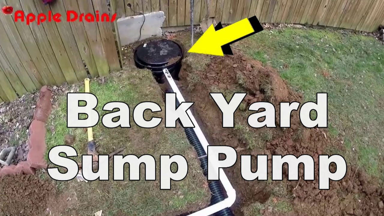 How To Install A Back Yard Sump Pump Youtube