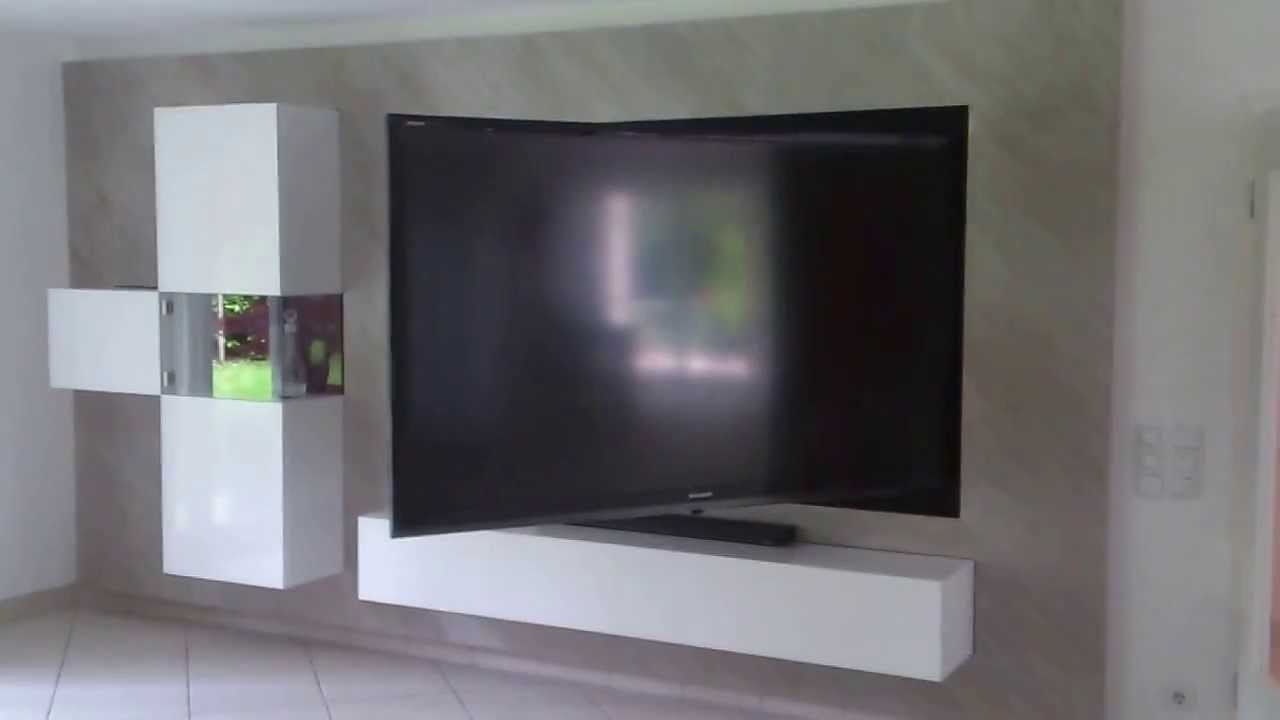 schwenkbare wandhalterung f r 85 zoll tv ger te youtube. Black Bedroom Furniture Sets. Home Design Ideas