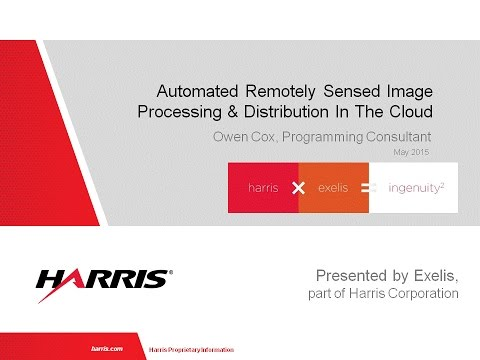 Automated remotely sensed image processing and distribution in the Cloud