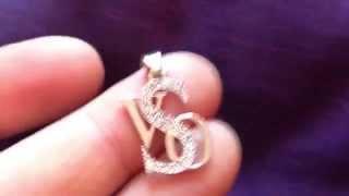 видео подвески буквы