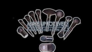 Makeup Forever Makeup Brushes (11 & All Face Brushes) 2014 Final Review w/ Close Ups!