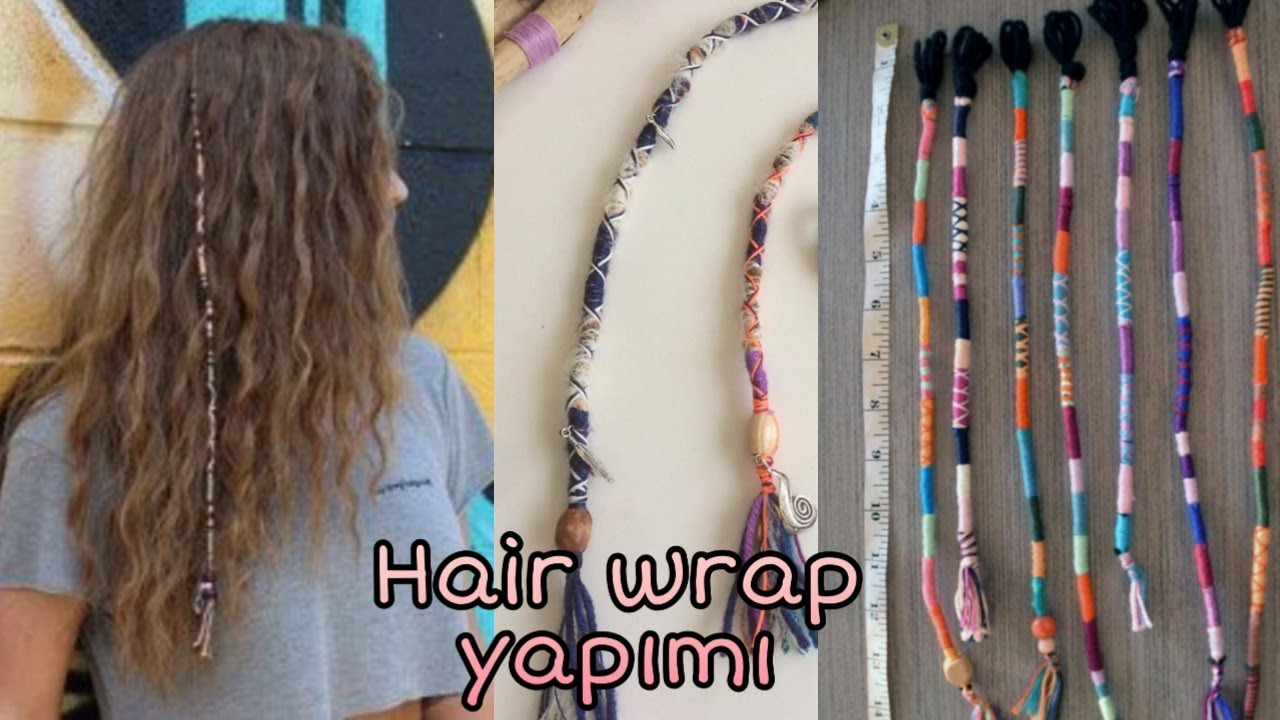 Hair wrap (Saç İpi) yapımı / Best hair wrap tutorıal dıy