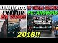 👉 INCREIBLE TRUCO PARA TENER TV CABLE EN TU CASA GRATIS | Android y PC | + 1000 Canales 2018 🔥