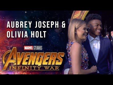 Aubrey Joseph & Olivia Holt Live from the Avengers: Infinity War Premiere