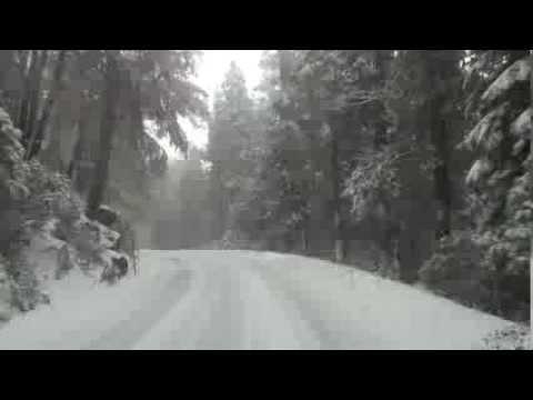 Driving Yosemite Snow Storm In Class C Motorhome (see written description)