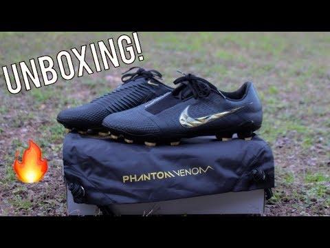 4a65f2a92ad Nike Phantom Venom Elite Black Lux Pack - Unboxing! - YouTube