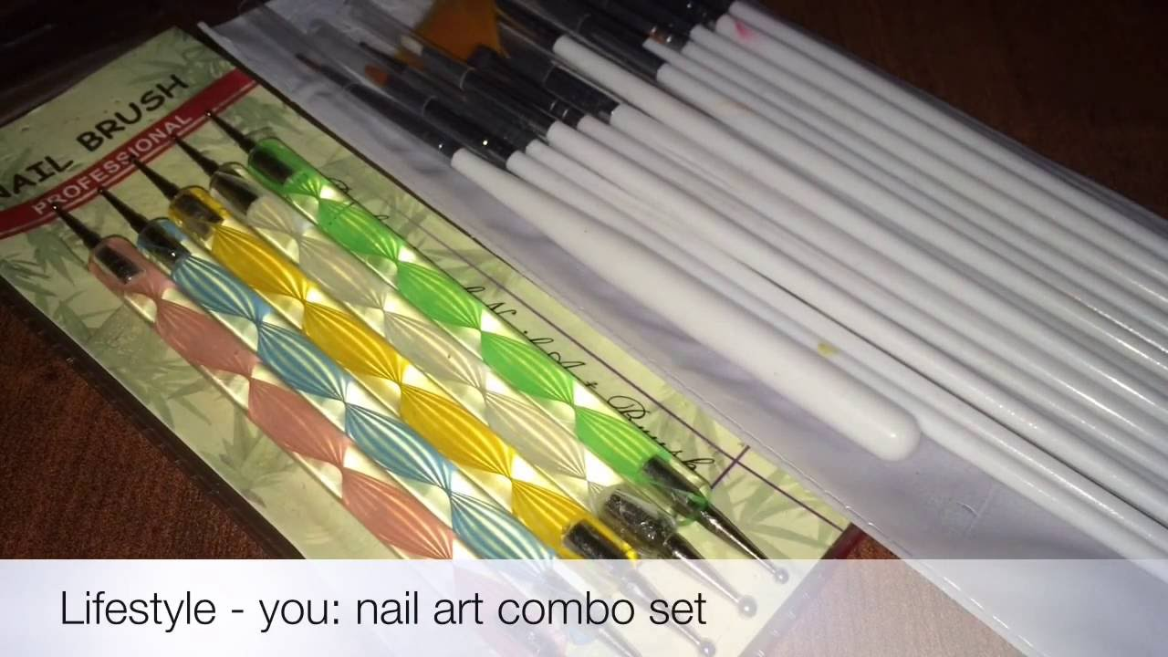 Lifestyle you-Nail art brush set from amazon-review | Celebration ...