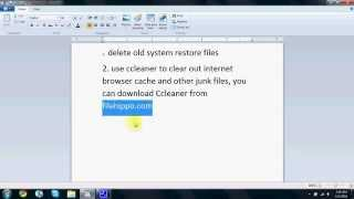 How to clean up hard drive space in Windows 7
