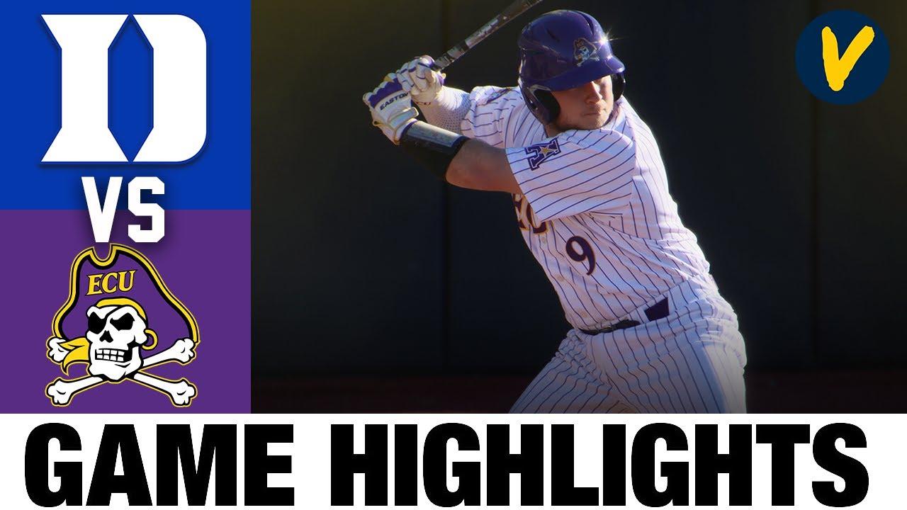 #25 Duke vs #22 East Carolina Highlights | 2.23.2020 | 2021 College Baseball Highlights