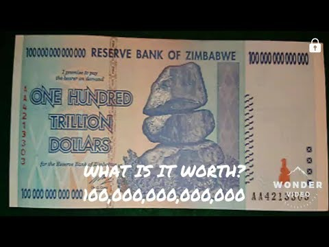 100 TRILLION DOLLARS ZIMBABWE CURRENCY