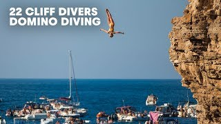 Domino Dive: 22 of the World's Best Cliff Divers Show Off at Once