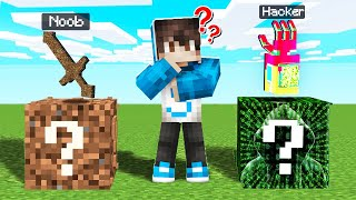 ¡LUCKY BLOCK NOOB VS LUCKY BLOCK HACKER! 😱⚔️ DESAFIO DE LUCKY BLOCKS EN MINECRAFT MIKECRACK