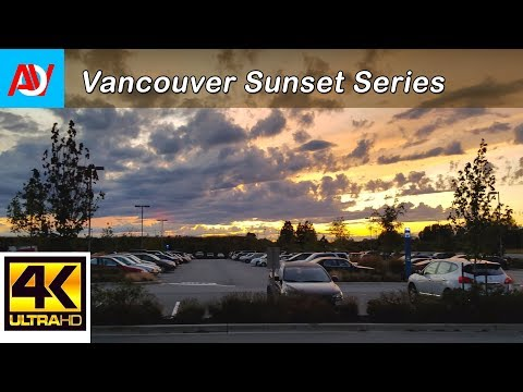 Vancouver Sunset: Waiting for the Shuttle Bus - Samsung S8  Test 4K