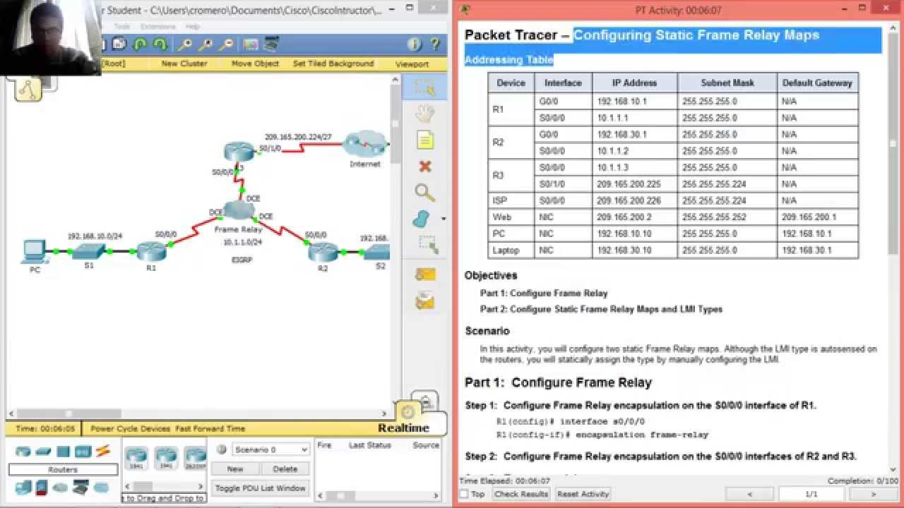 4214 Packet Tracer Configuring Static Frame Relay Maps YouTube