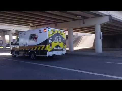 Acadian EMS, Medic#964 en-route to a Medical Call in Pasadena, Tx (Awesome Siren Change Up)