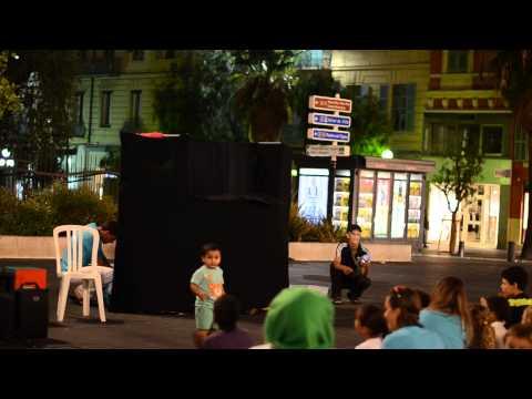 Spectacle de Marionnettes, Spectacle de Rue Plage Station Nice Antibes 2015