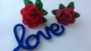 Repeat youtube video ROSAS HECHAS CON LIMPIA PIPAS. PIPE CLEANER  RED ROSES .