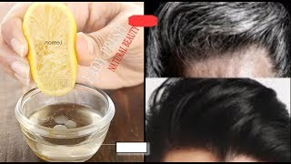 LEMON TO WHITE HAIR TO BLACK PERMANENTLY IN 1 DAYS  NATURALLY / THIS SIMPLE HOME REMEDY