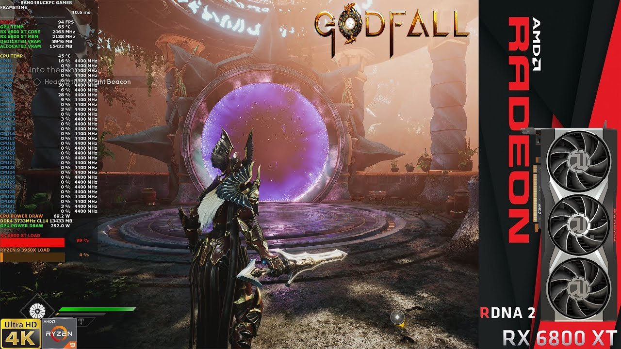 Download Godfall Epic Settings Raytracing 1800P | RX 6800 XT | Ryzen 9 3950X @4.4Ghz