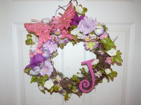 Diy spring decor flower wreath youtube - How to decorate with spring flowers ...